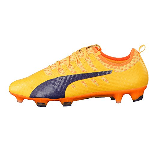 Puma Evopower Vigor 1 Fg, Botas de Fútbol para Hombre Ultra Yellow-Peacoat-Orange Clown Fish