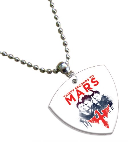 30 Seconds to Mars Bass Pick Collier Band Médiator