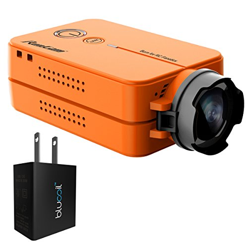 RunCam RUNCAM2-OR 1080p FPV Action Camera with 120° FOV and WiFi Built-in (Orange) Bundle with Blucoil USB Adapter