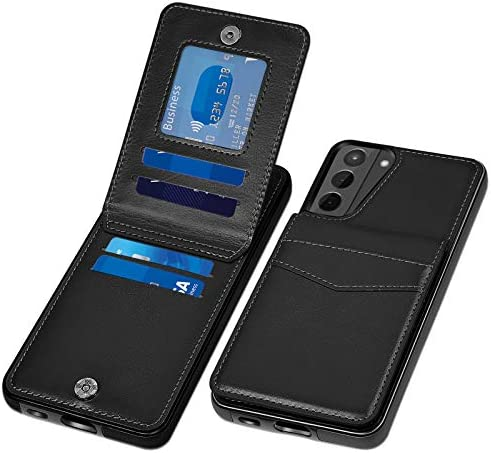 COOYA for Samsung S21 Case, Galaxy S21 Case Wallet Case with Card Holder Magnetic Clasp Premium PU Leather Card Case Protective Back Folio Flip Women Men Phone Case for Samsung Galaxy S21 5G 6.2 Inch