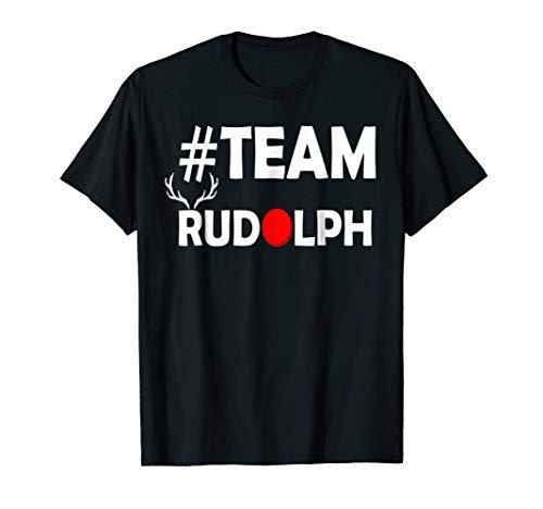 Team Rudolph-Cool Christmas Reindeer Costume T Shirt ()