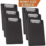Acrimet Clipboard Memo Size 9 1/4'' X 6 1/4'' Low Profile Clip (Black Color) (Pack - 6)