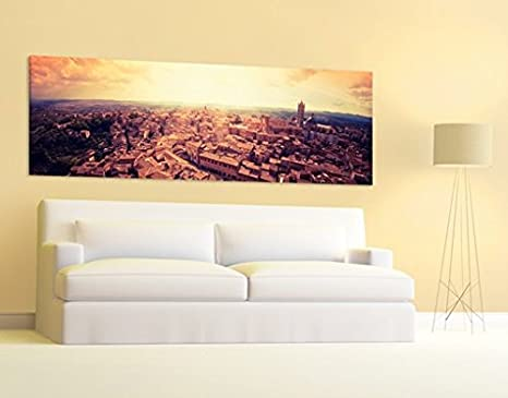 Stampa su tela no.537 Good Morning Siena 120x40cm , quadri su tela ...