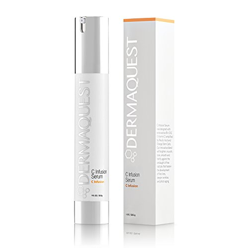 DermaQuest C Infusion Tightening and Brightening Serum with 10% Vitamin C, Orange Stem Cells and Ferulic Acid for Aging Skin, Fine Lines & Wrinkles, 1 fl.oz.