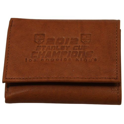 NHL Los Angeles Kings 2012 NHL Stanley Cup Final Champions Embossed Leather Tri-Fold Wallet () - Nhl Leather Embossed Wallet