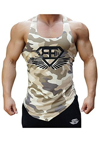 EVERWORTH Men Muscle Fitness Gym Stringer Tank Tops Bodybuilding Workout Sleeveless Shirts