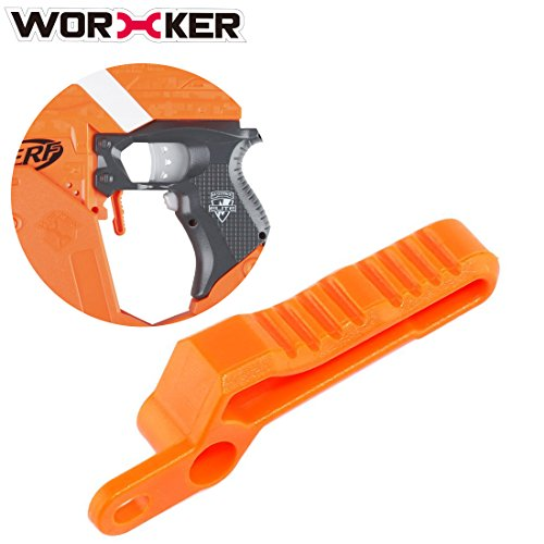Bullet Clip Releaser,Goshfun Modified Toy Accessories for Nerf Stryfe- Orange (Stainless Regulator Vest)