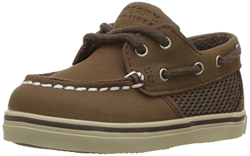 Sperry Intrepid Crib B Boat Shoe (Infant/Toddler),Cigar Brown,3 M US Infant ()