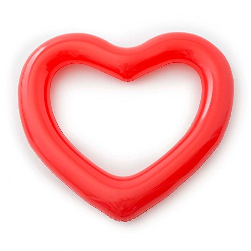 Ban.do US 64590 Beach, Please! Jumbo Heart Innertube, - Red Ban