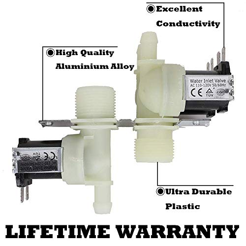 - WH13X10029 1475762 Ultra Durable 2 In 3 Out Washing Machine Water Inlet Valve Replacement Part for GE Washer - Replaces AP4303282 PS1482392 AH1482392 EAP1482392 PD00001515