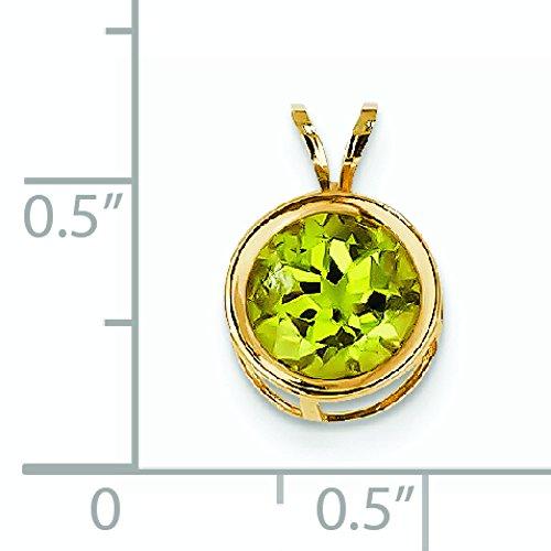 8 mm Hellgrün 14 Carats Pendentif à chaton-JewelryWeb