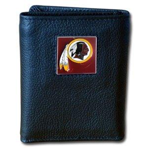 Washington Redskins NFL Leather & Nylon Tri-Fold Wallet