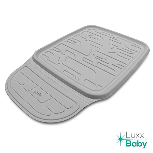 Best baby vehicle carseat protector for infant car seat, rear facing car seat, toddler car seat, booster, Britax, Maxi Cosi, Eventflo and other. Car Seat protector LuxxBaby CSP1