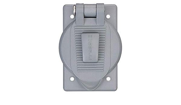 Hubbell HBL7424WO Weatherproof Gray Lift Cover Single Gang