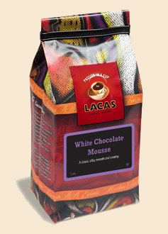 White Chocolate Mousse - Lacas Coffee Company Flavored Coffee White Chocolate Mousse Ground 12oz
