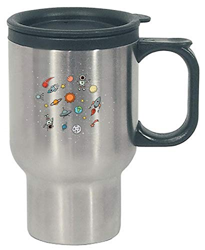 Funny Solar System - Planets Astronaut - Humor - Stainless Steel Travel Mug by Stuch Strength LLC