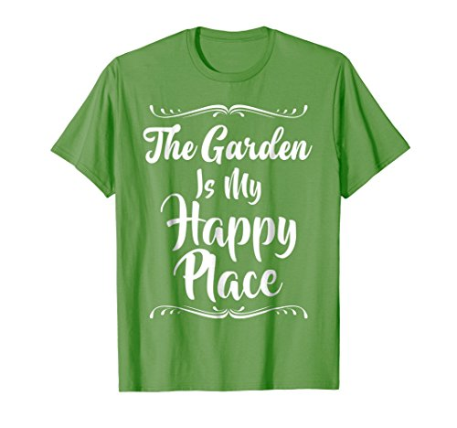 The Garden Is My Happy Place T-Shirt Gift for Gardener