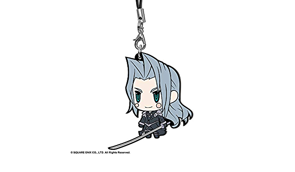Cloud Strife Kozuguru Final Fantasy FF VII Extended Edition Character Rubber Strap Mascot Charm Collection Anime Art