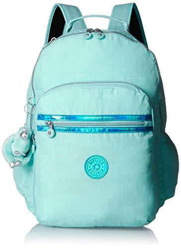 Kipling Seoul Go Laptop Backpack, Padded, Adjustable Backpack Straps, Zip Closure Laptop Backpack, Fresh Teal
