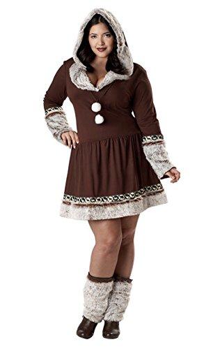 Sexy Eskimo Plus Size Costumes (Fashion Eskimo Kisses - Sexy Plus Size Adult Halloween Costume 2X)