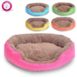 BOSUN(TM) Candy Color Small Puppy Dog Bed Soft Fleece Warm Round Chihuahua Dog