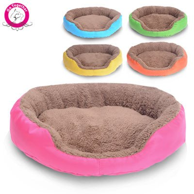 Amazon.com : WeMore(TM) Candy Color Small Puppy Dog Bed Soft Fleece Warm Round Chihuahua Dog Bed Indoor Oxford Bottom Pet Dog Cushion Camas Para Perros ...