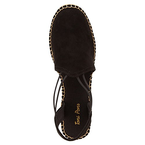 Toni Pons Women's Black Suede Tremp Sandals rrCHwq6