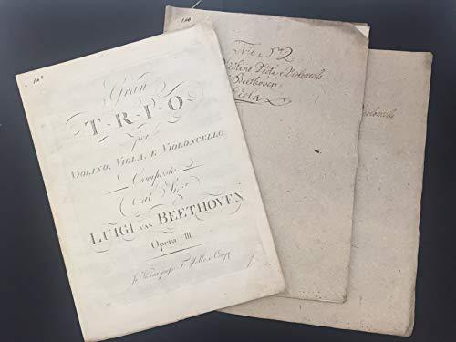 (Beethoven, Ludwig van. (1770-1827): Gran Trio per Violino, Viola e Violoncello [.] Op. III.)