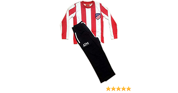 Atlético de Madrid Pijama Niño Rayas 2017-2018 (12 AÑOS ...