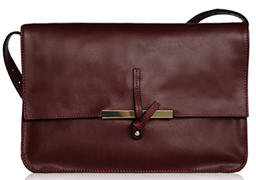 Lush Leather Knot Clasp Shoulder Clutch