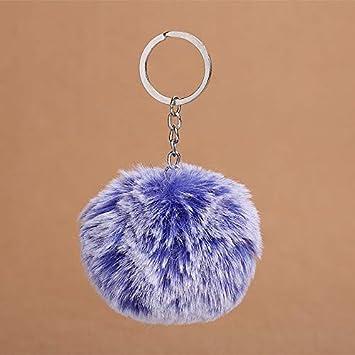 World 2 home Faux Rabbit Fur Snowflake Softball Pompom Keychain for Women  Bag Cars Pom Pom Fluffy Key Chains Keyring Pendant  Amazon.in  Bags 791859a4f3
