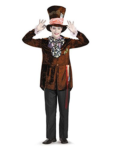 Mad Hatter Costume Makeup (Deluxe Mad Hatter Adult Costume - X-Large)