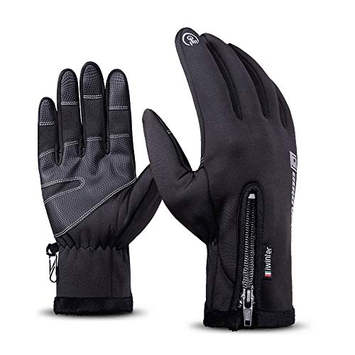 Gloves Premium Cycling (Fatwaior Touch Screen Gloves Warm Winter Gloves Unisex Cold Weather Waterproof Windproof Thermal Gloves Running Cycling Driving Gloves Outdoor Men Women (XL))