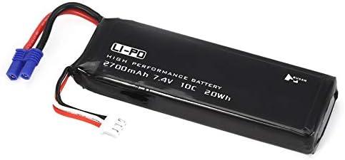 Cloverclover 2pcs 7.4V 2700mAh Li-po Bater/ía para Hubsan H501S X4 H501A RC Quadcopter