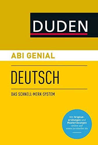 Abi genial Deutsch. Das Schnell-Merk-System (SMS). Buch mit Online-Angebot.