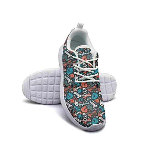 Running Shoes Walking Shoes Longboarding Skull Printlightweight Shoes Cushioning Sneaker Classic Footwear