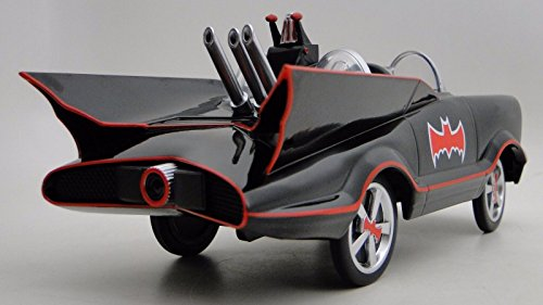 High End Collector Pedal Car Vintage 1960S Batman Batmobile 1950S Tail Fin Concept Antique Hot Rod Race Sport Sportscar Model Rare Classic Museum Quality Metal Body Collectible Not A Child Ride On Toy