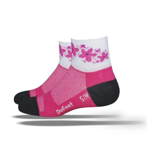 DEFEET Womens Aireator Pink Passion Socks,Raspberry,Small/Medium
