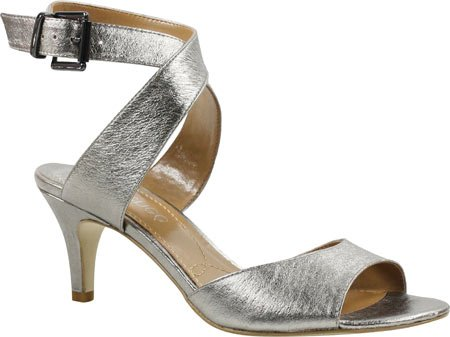 J. Renee Women's Soncino Ankle Strap Sandal,Taupe Metallic Leather,US 9 N