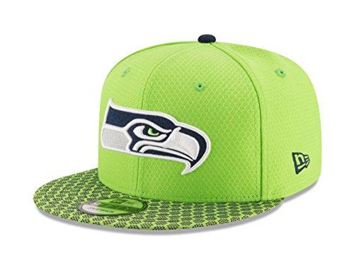 New Era 9Fifty Hat Seattle Seahawks Sideline 17 On Field Adjustable Snapback Cap from New Era
