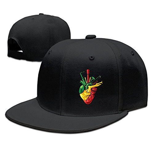 POY-SAIN Reggae Logo Hip Hop Cap Hat For Adult Black