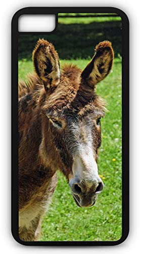 (iPhone 6 Plus 6+ Case Donkey Mule Horse Burrow Work Pull Ears Customizable by TYD Designs in Black Plastic Black Rubber Tough Case)