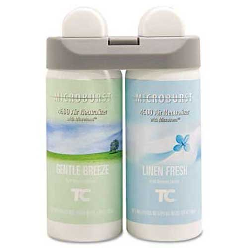 Rubbermaid Commercial Microburst Duet Refills, Gentle Breeze/Linen Fresh, 3oz, 4/Carton by Rubbermaid Commercial
