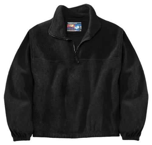 Sierra Pacific Adult Anti-Pill Fleece Quarter-Zip Pullover (Black) - Zip Pullover Fleece Quarter