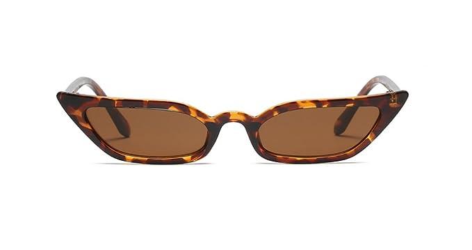 Tortoise Small Thin Narrow Slim Skinny Sunglasses Cat Eye Celeb Style Trend
