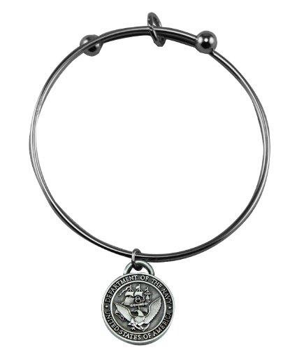United States Navy Charm Bangle (Military Navy Bracelet)