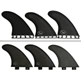 Thruster Surfboard Fins (3 Fins) - Perfect Flex with Honeycomb, FCS or Future sizes