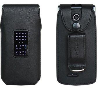 Premium Leather Fitted Case - Verizon LG Exalt VN360 Case  Fitted Premium Leather Case Verizon Original Swivel Belt Clip - Black - in Retail Packaging