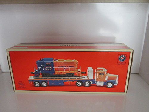 LIONEL TMT-18416/LT-702 FLATBED TOY TRUCK WITH NON POWERED DIESEL LOCOMOTIVE BY TAYLOR MADE TOYS