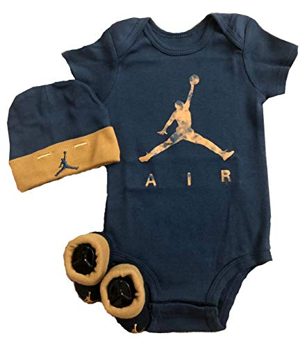 Nike Jordan 23 Jumpman 3 Piece Infant Set (Squadron Blue, 0-6 Months)